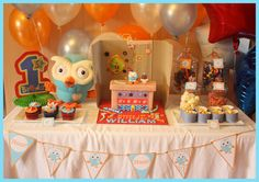 Giggle and Hoot Owl Party Bird Birthday Parties, Baby Birthday, Birthday Bash, Birthday Ideas, Party Themes, Party Ideas, Bird Party, Masons, House Party