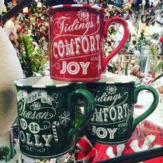 Tidings of comfort and joy, comfort and joy... In a mug! $6.99 each! #happyholidays #seasontobejolly #holidays #holidaymugs #shoplocal #shopsmall #indy #indianapolis #florist #mcnamara