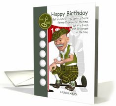 Husband Golfer Birthday Greeting Card With Humor card (1131176)