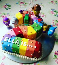 Third Birthday, 3rd Birthday Parties, Rainbow Nursery, Themed Birthday Cakes, Celebration Cakes, Grandchildren, How To Make Cake, Akira, Amazing Cakes