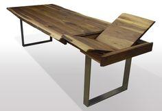 Baumtisch Nuss - Breite 80cm / Länge wählbar Unsere ausziehbaren Esstische sind zum einen hohwertig verarbeitet, als auchaus nur ausgesuchten Hölzern (A Qualität) hergestellt. Wir legen großen Wert auf die Optik...