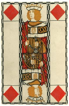 Designs for playing cards by Carl Otto Czeschka for the Wiener Werkstätte, 1900 Unique Playing Cards, Vintage Playing Cards, Art And Illustration, Klimt, Printable Playing Cards, Play Your Cards Right, Fortune Telling Cards, Joker, Cartomancy