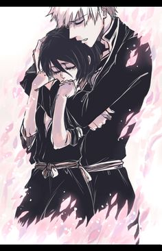 RIP Byakuya.LOL, jk jk. I drew this for myself and decided to share it here as well :) Some IchiRuki angst, nomnomnom.