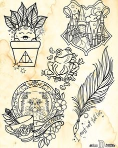To all my fellow Harry Potter fans, we will be celebrating Harry Potter's birthday on Tuesday July with a Harry Potter flash day – Fashionhome - diy tattoo images Theme Harry Potter, Harry Potter Birthday, Harry Potter Love, Hp Tattoo, Tiny Tattoo, Tattoo Moon, Chest Tattoo, Tattoo Flash, Small Tattoos