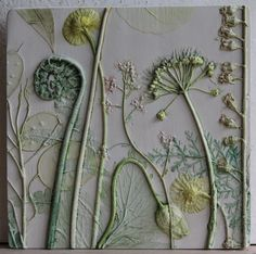 Fern Welsh Poppy and Allium by TactileStudio on Etsy