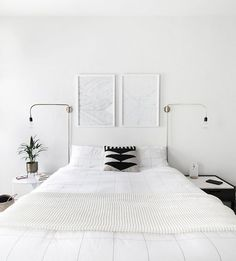 Scandinavian Bedroom Design Scandinavian style is one of the most popular styles of interior design. Although it will work in any room, especially well . Home Design, Interior Design, Design Ideas, Design Trends, Interior Decorating, Luxury Bed Sheets, Luxury Bedding, Minimal Bedroom, Monochrome Bedroom