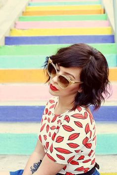 35 Best Short Wavy Hairstyles | http://www.short-hairstyles.co/35-best-short-wavy-hairstyles.html