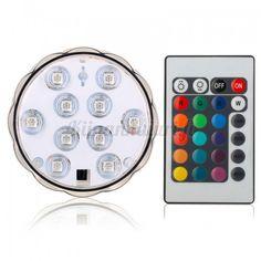 Vedenkestävä LED RGB valo + kaukosäädin