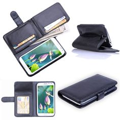 Luxury 7 card slots Wallet PU leather case Cover For Samsung Galaxy Note 2  N7100 in 531ccfef2be96