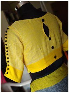 Sari Blouse, Cotton Saree Blouse Designs, Linen Blouse, Collar Blouse, Simple Blouse Designs, Stylish Blouse Design, Latest Blouse Neck Designs, Sari Design, Designer Kurtis
