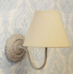 French shabby chic grey wooden wall light Bowley & Jackson