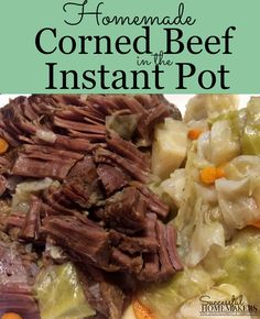 Homemade Corned Beef in the Instant Pot is easier than you think! Brining your beef in a simple brine solution for 10 days, then cook in the Instant Pot! Instant Pot Pressure Cooker, Pressure Cooker Recipes, Homemade Corned Beef, Veggetti Recipes, Best Instant Pot Recipe, Brine Solution, Recipe Using, Tasty Dishes, Craft