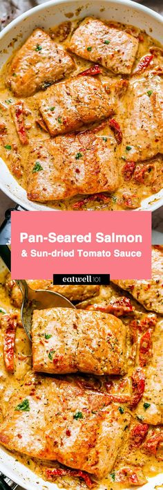 salmon recipes Rich and hearty but delectably healthy, this pan-seared salmon recipe is perfect for a dinner ready in under 20 minutes. Pan fried to a flakey perfection, salmon is crispy on the outside and drench… salmon recipes Salmon Recipe Pan, Seared Salmon Recipes, Pan Seared Salmon, Salmon Sauce, Pan Fried Salmon, Pescatarian Diet, Pescatarian Recipes, Vegetarian Recipes, Healthy Recipes