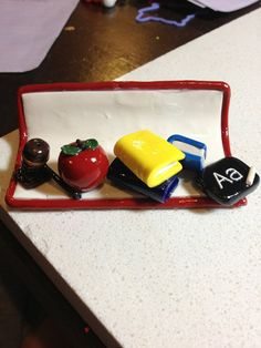 Items similar to Lawyer Business Card Holder Polymer Clay on Etsy