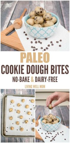 Craving cookie dough? Whip up a batch of these delicious Paleo Cookie Dough…