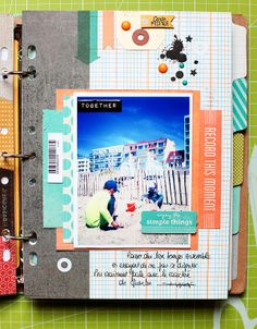 Hi everyone, I really love my BasicGrey Capture and Carte Postale goodies♥ I have so much fun creating new projects with those all . Mini Albums Scrapbook, Scrapbook Cards, Travel Scrapbook, Basic Grey, Smash Book Inspiration, Layout Inspiration, Book Crafts, Paper Crafts, Summer Memories