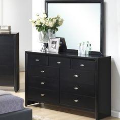 Global Furniture USA Carolina 9 Drawer Dresser with Mirror