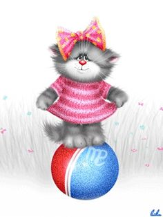 View album on Yandex. Cute Little Kittens, Cats And Kittens, Cute Cats, Kitten Cartoon, Cute Cartoon, Gifs, Cool Animations, All About Cats, Here Kitty Kitty