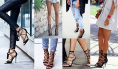 This seasons statement shoe, the lace up heel / www.heidiandcoco.com Sophia Webster, Isabel Marant, Alexander Mcqueen, Valentino, Christian Louboutin, Lace Up Heels, Stiletto Heels, Seasons, Accessories