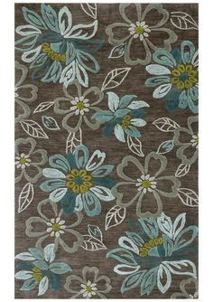 RugStudio presents Jaipur Rugs Brio Daisy Chain Taupe Gray Hand-Tufted, Better Quality Area Rug Decor, Grey Rugs, Abstract Rug, Floral Rug, Floral Area Rugs, Tufted, Home Decor, Green Rug, Hand Tufted Rugs