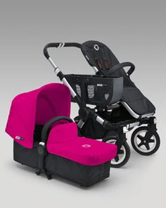 -3HH4 Bugaboo Donkey Stroller & Tailored Fabric Set, Pink
