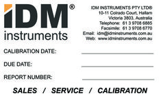 Testing equipment in your facility (or at IDM) will be calibrated using industry-wide, internationally recognized standards or by your specific requirements. Calibrated instruments are labelled accordingly and documented with an IDM full calibration report or certificate of conformance (whichever is applicable). All traceable calibrations are maintained in IDM's database and you will be notified when your next service/calibration is due. IDM's Calibration work is