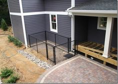 "The ""L"" Shaped House: The Backyard…The dog run"