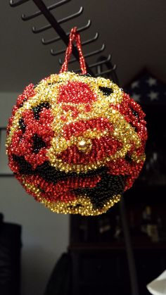 red_black bell ornament