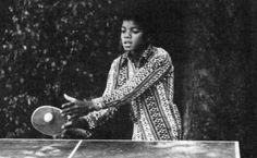 Michael Jackson playing ping-pong :)