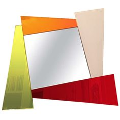 Mirror Designed and Signed by Ettore Sottsass, 1990, Made in Italy