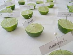 Great party idea for a Mexican themed party. Even if they weren't for name holders, but even to describe a food, etc.....