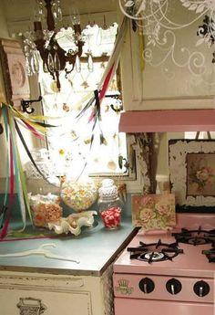 Pink appliances makes you smile.