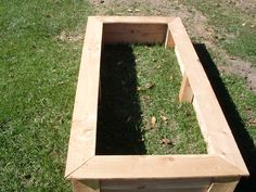 simple, cheap raised bed for the garden.
