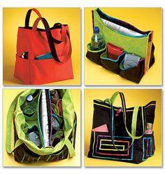 Large Tote Bag Pattern Nancy Z's Biggy Tote Pattern by blue510, $4.40