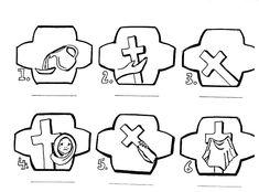 Sorozatok (A keresztút állomásai). Cross Clipart, Bible Coloring Pages, Cross Art, Clip Art, Easter, Baby, Saints, Easter Activities, Baby Humor