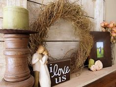 I LOVE LOVE LOVE everything about this! Plus I have that Willow Tree sculpture!