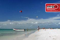 En la isla de Coche se pueden practicar diversos deportes ya que siempre tiene una agradable brisa ideal para los amantes del #windsurf.
