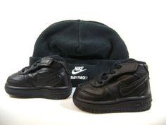 Nike Air Force 1 06 Gift Pack Black w/ Cap Toddlers Sz 2c Nike. $32.95