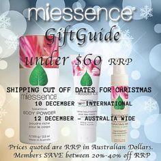 #Miessence #CertifiedOrganic gift ideas for #Christmas