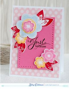 Floral Just Because Card by Betsy Veldman for Papertrey Ink (June 2014)