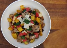 Autumn Panzanella Salad with Pears, Butternut Squash, and Hearty Walnut Bread