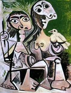 'couple with bird II' by pablo picasso Kunst Picasso, Pablo Picasso Drawings, Art Picasso, Picasso Paintings, Time Painting, Oil Painting Abstract, Watercolor Paintings, Watercolor Artists, Painting Lessons
