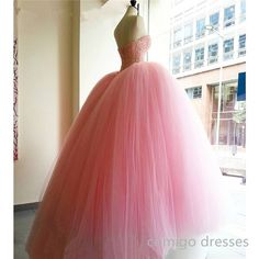 Pink Prom Dress,Ball Gown Prom Dress,Princess Prom Gown,Beaded Prom Dresses,Sexy Evening Gowns,2016 New Fashion Evening Gown,Sexy Baby Pink Graduation Dress For Teens