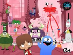 Foster's Home for Imaginary Friends.  I really love this cartoon!!  I'm still a kid at heart!