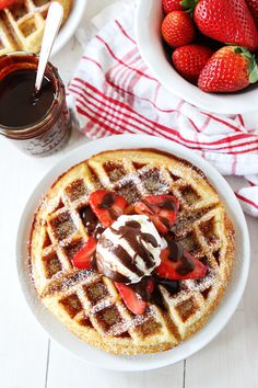 For a special weekend breakfast, how about Yeasted Belgian Waffles? You can mix the batter the night before, so that it's ready for you in the morning! Recipe on twopeasandtheirpod.com