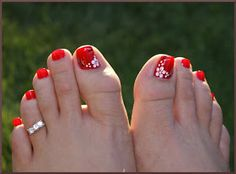Hibiscus Flower on Toes