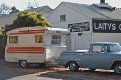 Cute vintage truck & camper | http://foxslane.blogspot.com/2012/06/my-top-10-reasons-to-take-mini-road.html