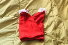 Red with Lace Santa Claus Christmas Leg Warmer Sock Boot Cuffs - pinned by pin4etsy.com