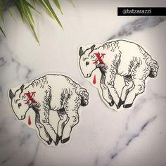 Agnus Dei Temporary Tattoo Temp Tat Christian Traditional Lamb of God Slain Christmas Easter Original Modern Youth Group Stocking Stuffer