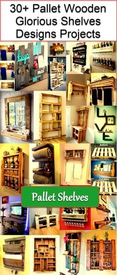 pallet wooden shelves projects